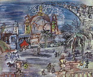 The oil version of Carnaval à Nice (by Dufy) sold for about $150,000 in a late-2007 London auction.  It went unsold when inserted into a NY auction and valued higher the following year.
