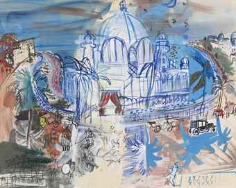 "This 1937 watercolor, """" by French painter Raoul Dufy, may have played a guest-starring role in the  Taiwanchik-Trincher sportsbetting crackdown."