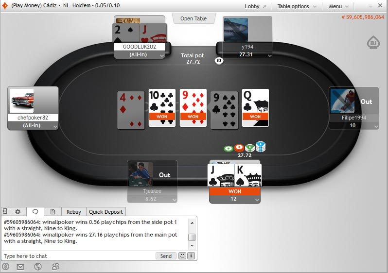 Party Poker Table Image